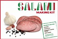 Home Italian Salami Sausage Making Pack - Salami  Seasoning, 2 casings, Curing Salt & Bessastart
